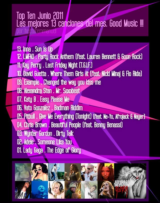 Las mejores canciones de junio