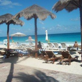 En el hotel en Cancún