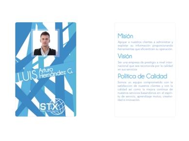 Diseño Gafete Empresarial. Tarjeta de Acceso.