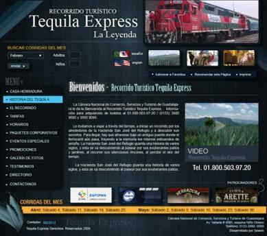 Página Web Tequila Express