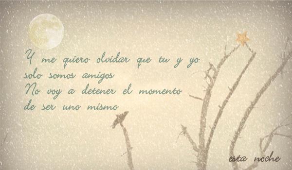 Y me quiero olvidar...