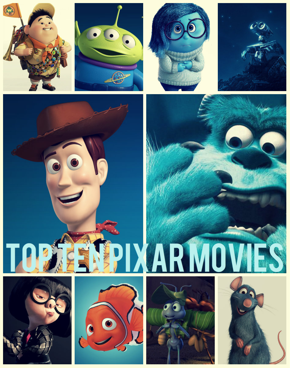 Top Ten Pixar Films